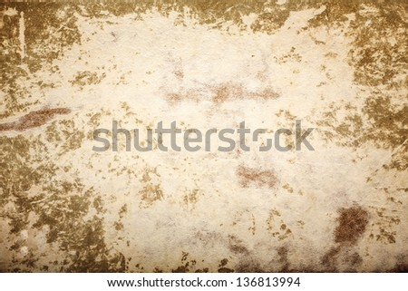 Old Brown Paper Texture, Background For Artwork - stock photo