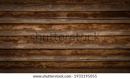 Old brown rustic dark wooden boards texture - wood timber background Foto stock ©