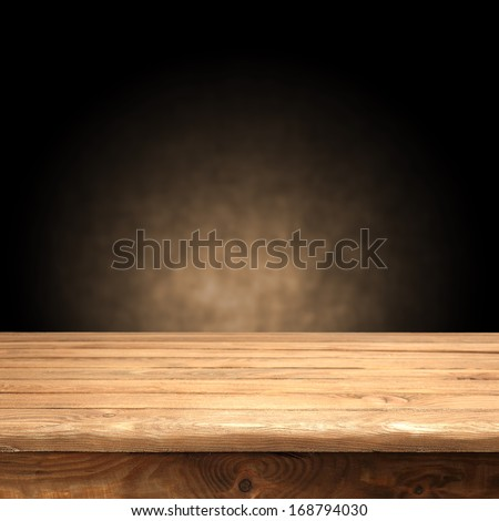 old brown table and wall