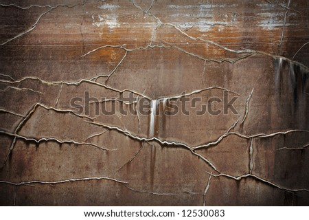 Old brown textured wall