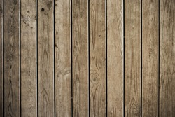 Old brown wooden background. Rustic style. Favorite wallpaper. Texture of tree boards. Rustik
