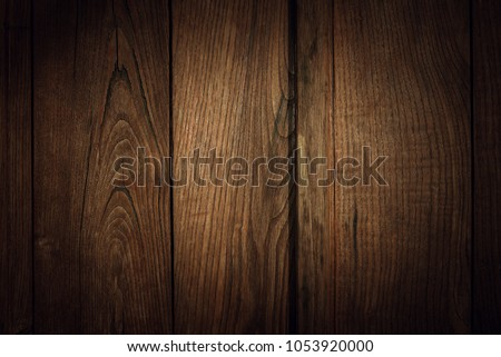Old brown wooden wall, detailed background photo texture. Wood plank fence close up. #1053920000