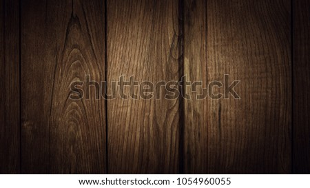 Old brown wooden wall, detailed background photo texture. Wood plank fence close up. #1054960055