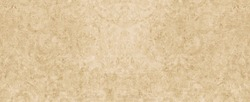 Old brown yellow beige vintage worn shabby elegant floral leaves flower patchwork motif tiles stone concrete cement wall wallpaper texture background banner