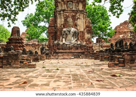 Old Buddha,Thailand Southeast Asia Travel Concept #435884839