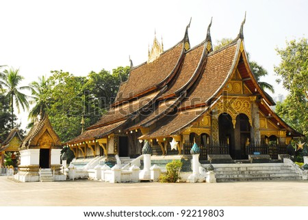 Old Buddhist Temple of Wat Xieng Thong in Luang Prabang, Laos, Southeast Asia