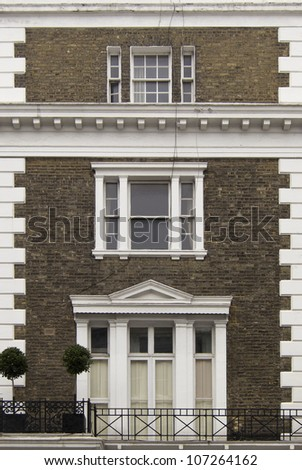 Old building facade in London, England, UK