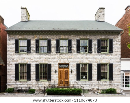 Old building in historic district of Winchester Virginia USA
