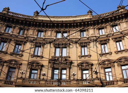 old  building in milan