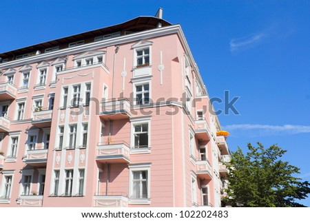 old building in pink