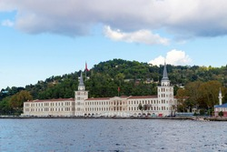 Old building on the Bosphorus in Istanbul, Turkey. Construction was completed in 1843