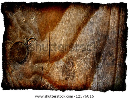 Old burnt woody tablet, background