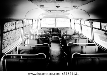 Old bus contrast