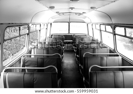 old bus inside