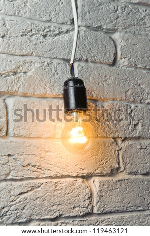 Old but lighting electric bulb