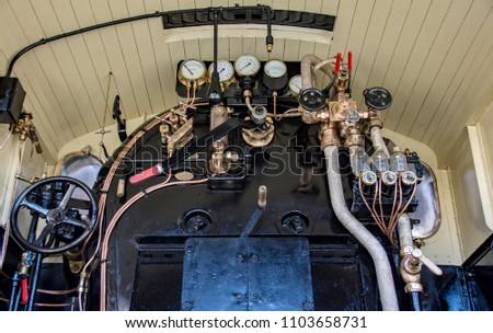 Old cabin steam locomotive 900s #1103658731