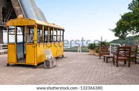 Old cable car to Sugar loaf on Urca in Rio de Janeiro