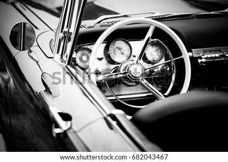 old cabriolet car close up #682043467