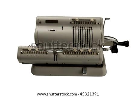 old calculator device - stock photo