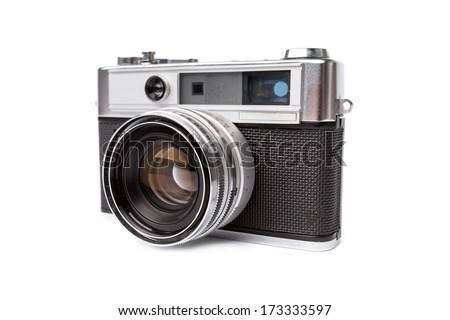 Old camera isolated