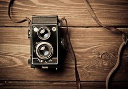 old camera retouching Vintage