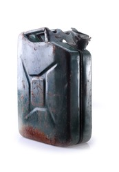 old canister,petrol, retro, gas station, green canister, canister with gasoline, 30 liters of gasoline
