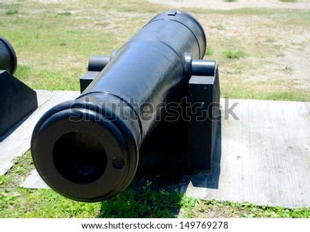 old cannon at Castillo de San Marcos fort