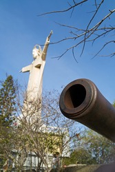 Old cannon in front of the Jesus