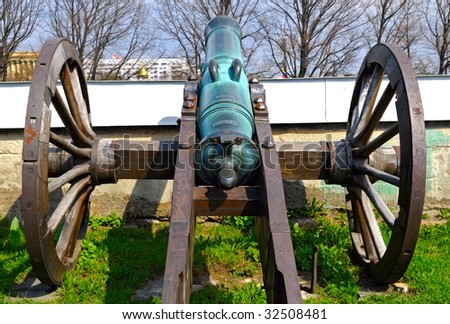 old cannon in Peter and Paul fortress in St. Petersburg, Russia