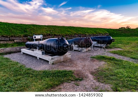 Old Cannons at the Fort #1424859302