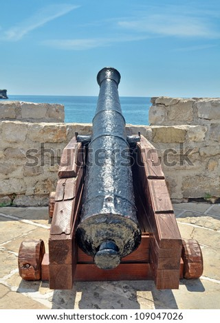Old canon on fortress