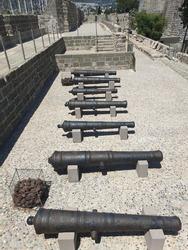 Old Canons defending Bodrum Castle