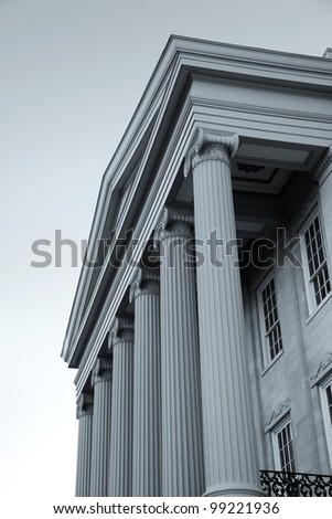 Old Capital Museum building front in Jackson Mississippi