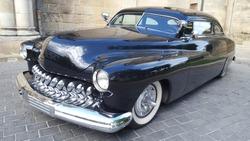 Old Car black american Collection in Exhibition vintage automobile