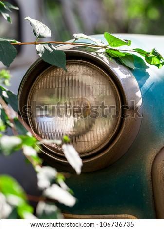 old car headlights