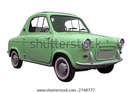 old car isolated - stock photo