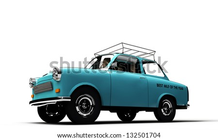 old car isolated on white background