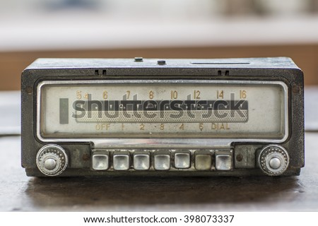Old car radio, retro style
