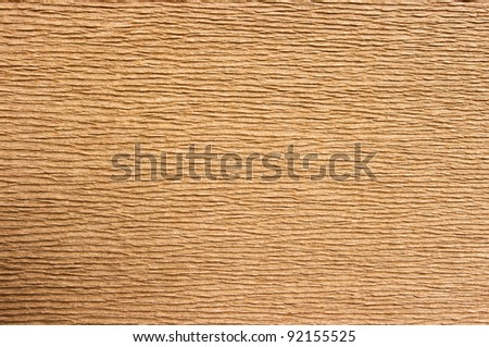 Old cardboard with corrugated pattern