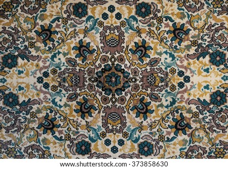 old carpet with pattern. top...