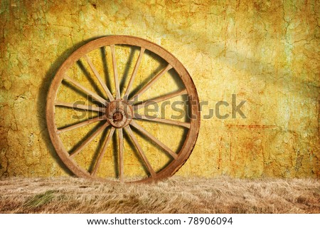 Old cart wheel