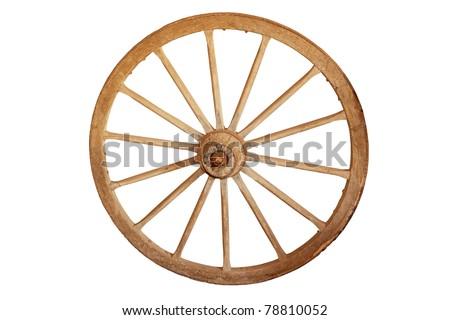 Old cartwheel - stock photo