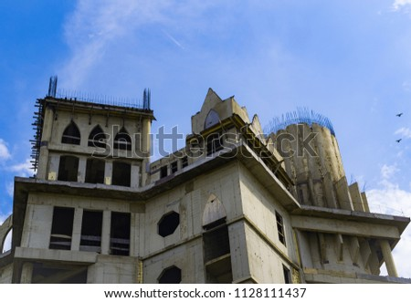 old castle bottom view Stock photo ©