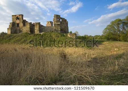 Old castle ruins in Siewierz, Poland