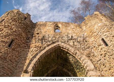 Old castles stone entrance