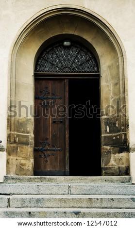 Old cathedral door
