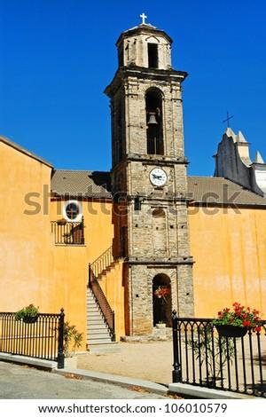Old catholic church in Pietraserena village, Corsica