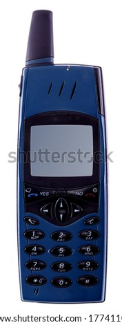 Old cell phone. Isolated with clipping path