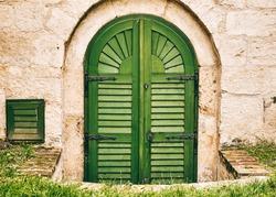 Old cellar door