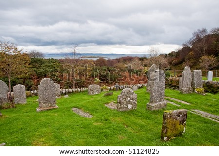 Old cemetery on the isle of Jura